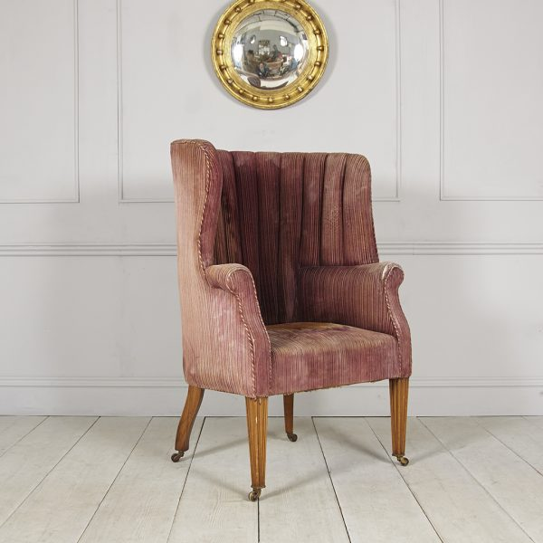unrestored wing chair