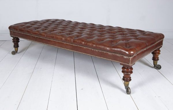 leather antique stool