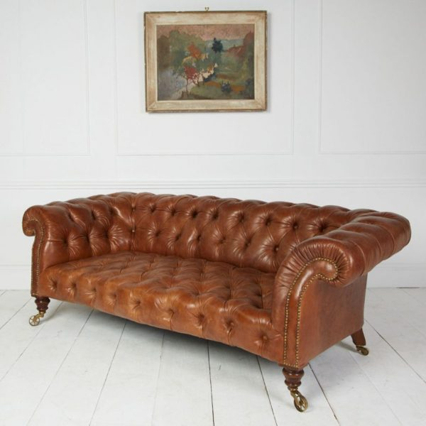 leather chesterfield antique