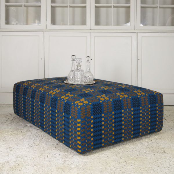 welsh blanket ottoman