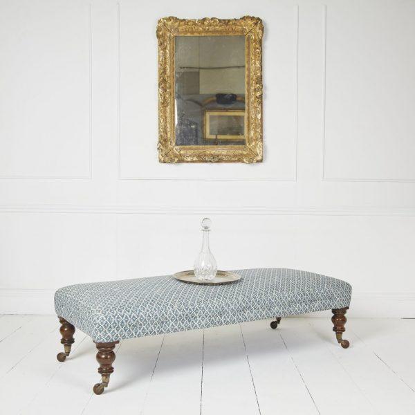 blue-footstool-antique